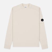 Мужской свитер C.P. Company Crew Neck Lens Pocket Gauze White фото- 0