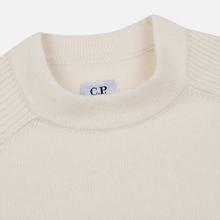 Мужской свитер C.P. Company Crew Neck Lens Pocket Gauze White фото- 1