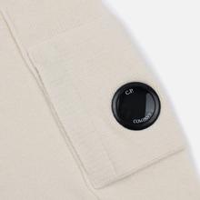 Мужской свитер C.P. Company Crew Neck Lens Pocket Gauze White фото- 3
