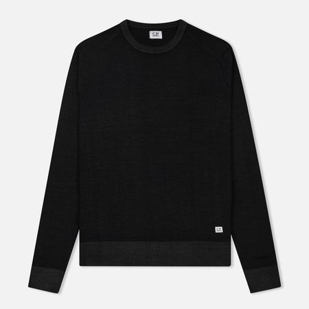 Мужской свитер C.P. Company Merino Garment Dyed Crew Neck Caviar