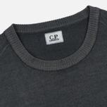 Мужской свитер C.P. Company Merino Garment Dyed Crew Neck Dark Fog Grey фото- 1