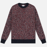 Мужской свитер Edwin Dock Ecoplanet Wool Blend Navy/Red фото- 0