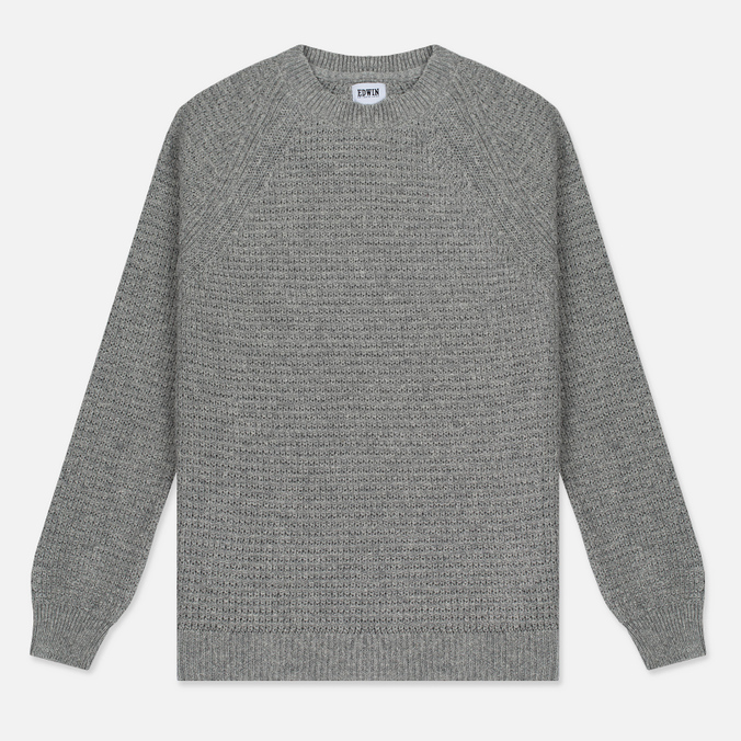 Мужской свитер Edwin Purl Ecojean Recycled Yarns Grey Marl