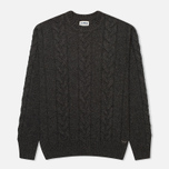Мужской свитер Edwin Shackle Crewneck Charcoal фото- 0