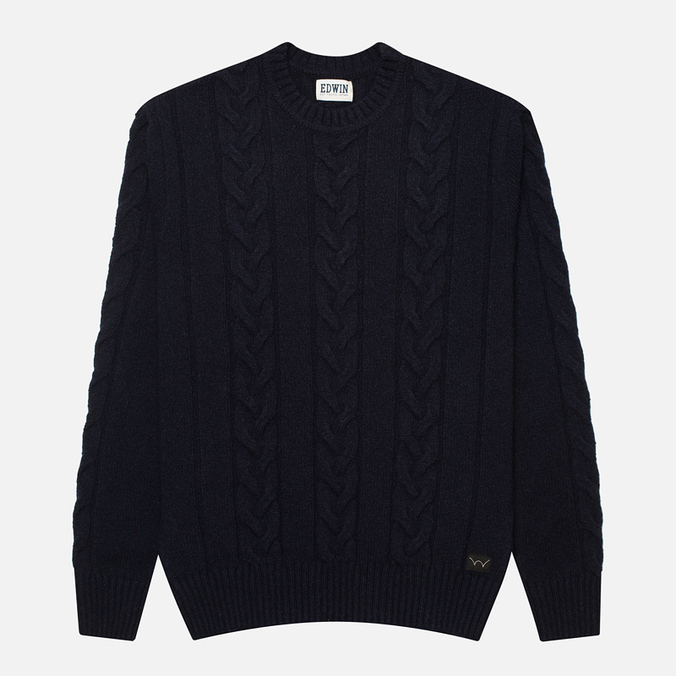 Edwin Shackle Crewneck Men's Sweater Navy