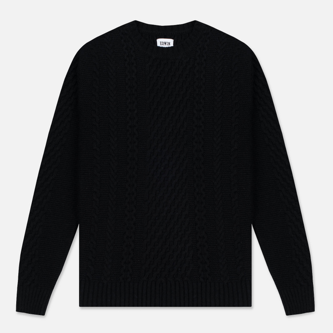Мужской свитер Edwin United Ecoplanet Wool Blend Black
