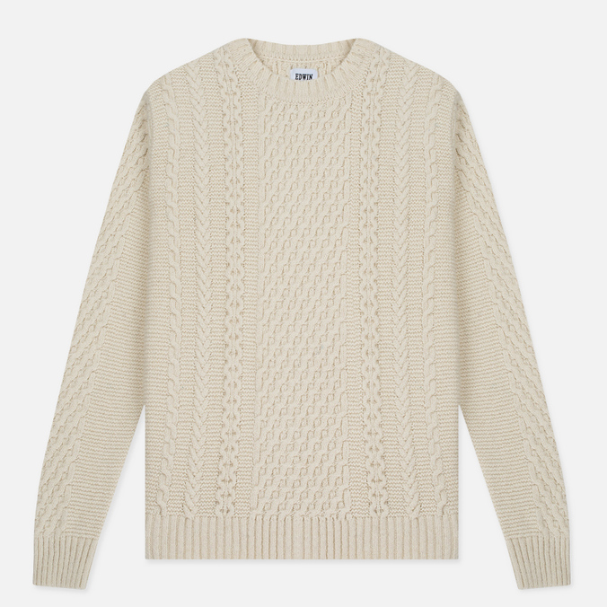 Мужской свитер Edwin United Ecoplanet Wool Blend Natural