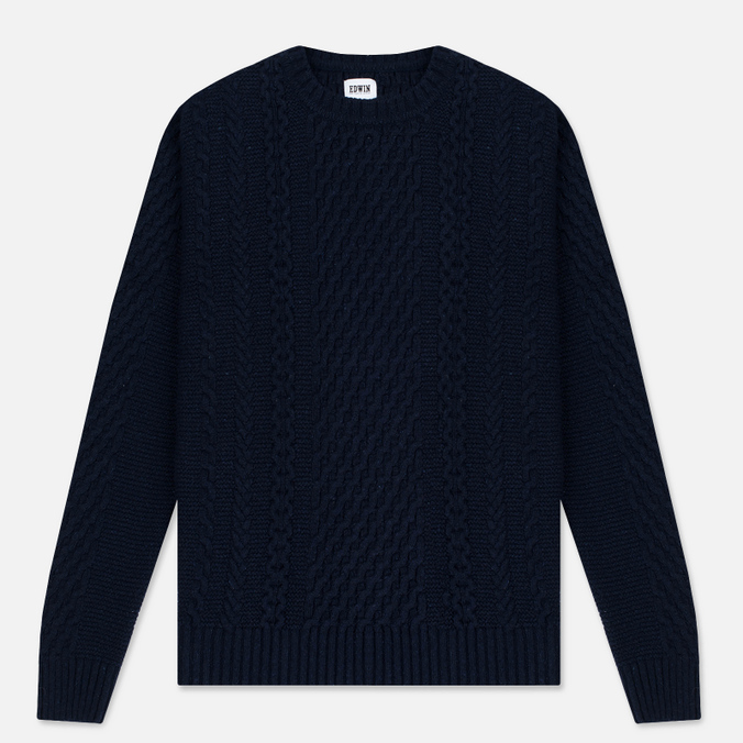 Мужской свитер Edwin United Ecoplanet Wool Blend Navy