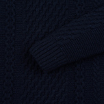 Мужской свитер Edwin United Ecoplanet Wool Blend Navy фото- 2