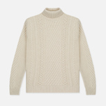 Мужской свитер Edwin United Rollneck Ecoplanet Wool Blend Natural Garment Washed фото- 0