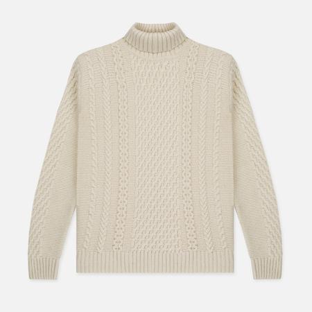Мужской свитер Edwin United Rollneck Ecoplanet Wool Blend Natural Garment Washed