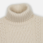 Мужской свитер Edwin United Rollneck Ecoplanet Wool Blend Natural Garment Washed фото- 1