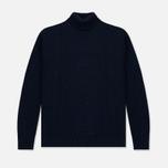Мужской свитер Edwin United Rollneck Ecoplanet Wool Blend Navy Garment Washed фото- 0