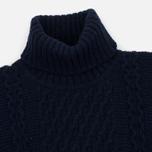 Мужской свитер Edwin United Rollneck Ecoplanet Wool Blend Navy Garment Washed фото- 1