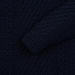 Мужской свитер Edwin United Rollneck Ecoplanet Wool Blend Navy Garment Washed фото- 2