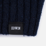 Мужской свитер Edwin United Rollneck Ecoplanet Wool Blend Navy Garment Washed фото- 3