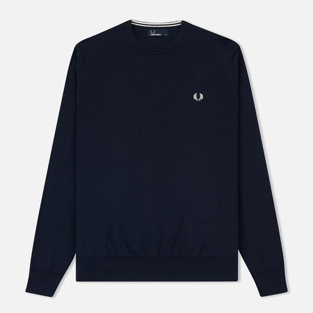 Мужской свитер Fred Perry Classic Cotton Crew Neck Deep Carbon
