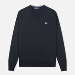 Мужской свитер Fred Perry Classic V-Neck Cotton Black фото- 0