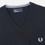 Мужской свитер Fred Perry Classic V-Neck Cotton Black фото- 1