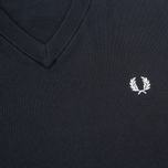 Мужской свитер Fred Perry Classic V-Neck Cotton Black фото- 2