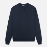 Мужской свитер Fred Perry Classic V-Neck Cotton Navy фото- 0