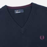 Мужской свитер Fred Perry Classic V-Neck Cotton Navy фото- 1