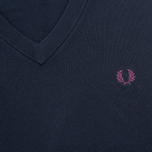 Мужской свитер Fred Perry Classic V-Neck Cotton Navy фото- 2