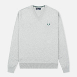 Мужской свитер Fred Perry Classic V-Neck Cotton Stone Marl фото- 0