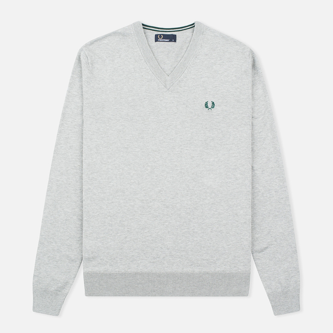Мужской свитер Fred Perry Classic V-Neck Cotton Stone Marl