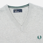 Мужской свитер Fred Perry Classic V-Neck Cotton Stone Marl фото- 1