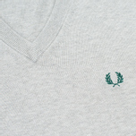 Мужской свитер Fred Perry Classic V-Neck Cotton Stone Marl фото- 2