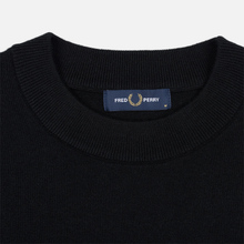 Мужской свитер Fred Perry Tipped Sleeve Crew Neck Black фото- 1