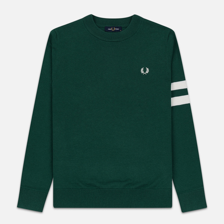Мужской свитер Fred Perry Tipped Sleeve Crew Neck Ivy