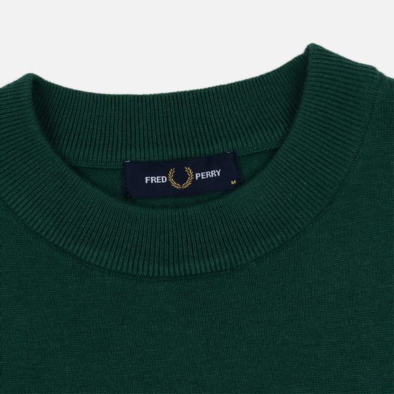 Мужской свитер Fred Perry Tipped Sleeve Crew Neck Ivy