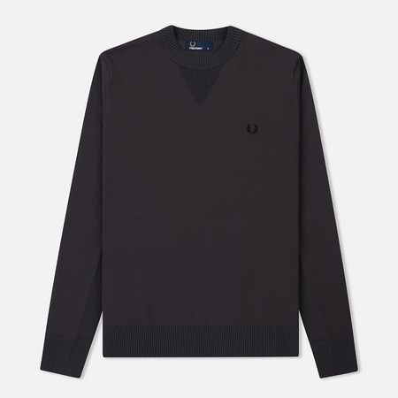 Мужской свитер Fred Perry V Insert Crew Neck Anchor Grey