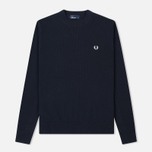 Мужской свитер Fred Perry V Insert Crew Neck Navy фото- 0