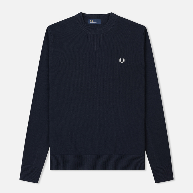 Мужской свитер Fred Perry V Insert Crew Neck Navy