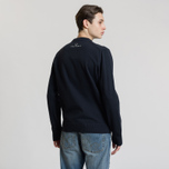 Мужской свитер Fred Perry V Insert Crew Neck Navy фото- 2