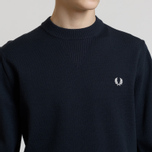 Мужской свитер Fred Perry V Insert Crew Neck Navy фото- 3