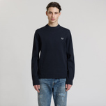 Мужской свитер Fred Perry V Insert Crew Neck Navy фото- 1