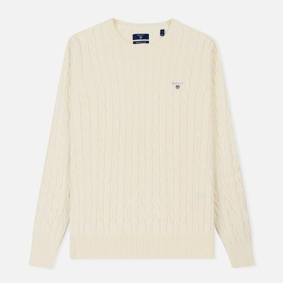 Мужской свитер Basic Cotton Cable Crew