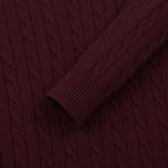 Мужской свитер Gant Basic Cotton Cable Crew Purple Wine фото- 3