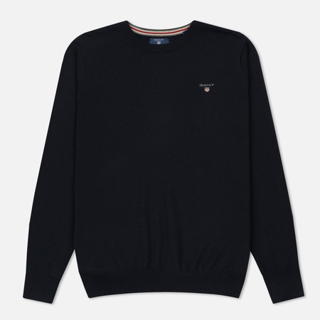 Мужской свитер Gant Basic Cotton Wool Crew Navy