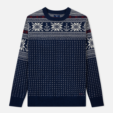 Мужской свитер Gant Holiday Crew Evening Blue
