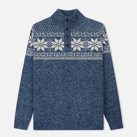 Мужской свитер Gant Holiday Mockneck Stone Blue Melange