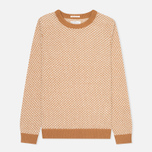 Мужской свитер Gant Rugger Arrow Weave Crew Toffee фото- 0