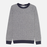 Мужской свитер Gant Rugger Arrow Weave Crew Navy фото- 0