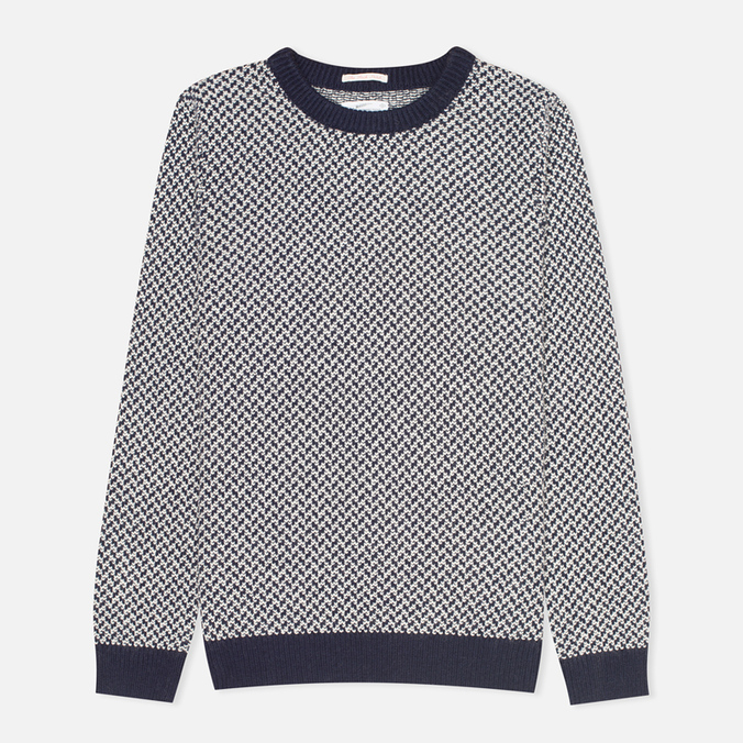 Мужской свитер Gant Rugger Arrow Weave Crew Navy