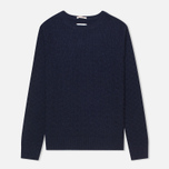 Мужской свитер Gant Rugger The Basketweave Navy фото- 0