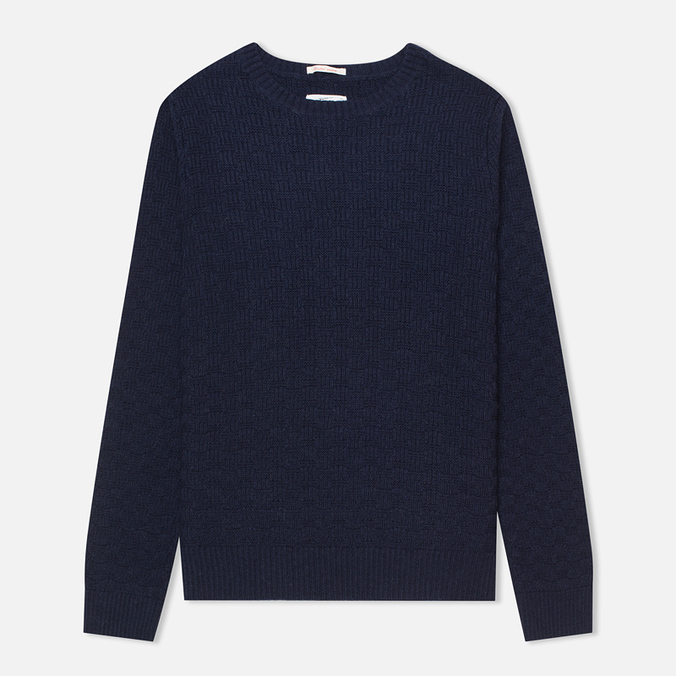 Gant Rugger The Basketweave Men's Sweater Navy